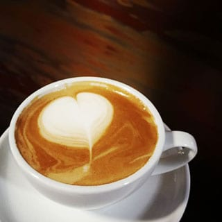 Kaffekonst hjärta