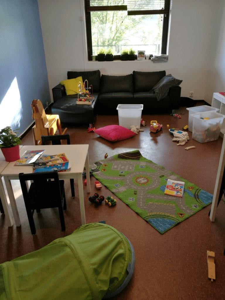 Bild från barnens lekrum på Café UH