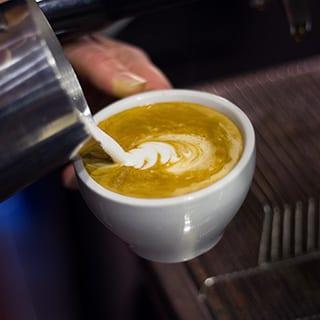 Kaffekonst med cappuchino